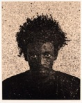 Jorge, 2003 Photogravure on silk collé