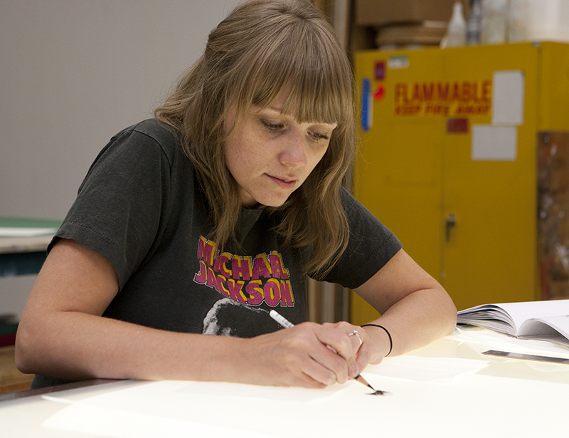 Robyn O'Neil in residence at USF Graphicstudio