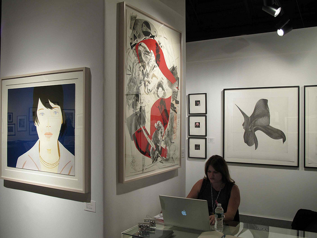 Graphicstudio booth. Graphicstudio will be at the 2012 IFPDA Print Fair in Booth 131