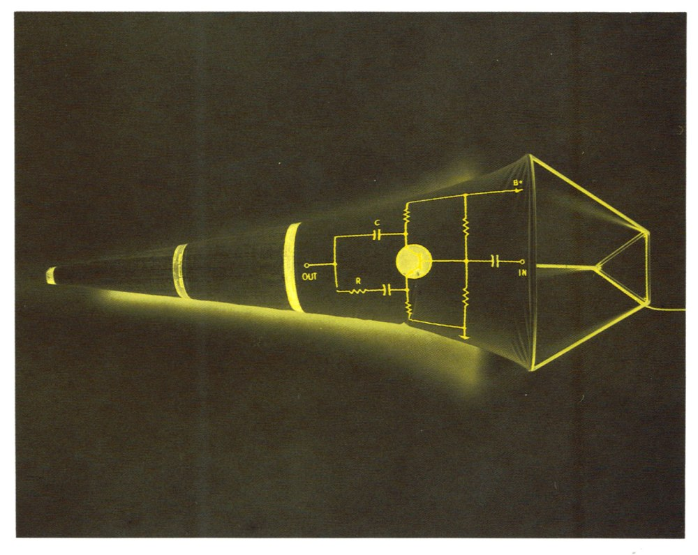 Anemometer while lit. Image from exhibition catalogue for Keith Sonnier: Prints, Drawings & Multiples, 1990–1992 at Castelli Gallery from April 4 – 25, 1992.