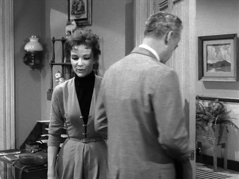 Screen capture of a scene from Nightmare as a Child, originally aired April 29, 1960.