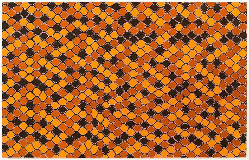 "Trenton Doyle Hancock The Den, 2012 Acrylic and mixed media on canvas 84 x 132 x 3"" Image courtesy James Cohan Gallery"