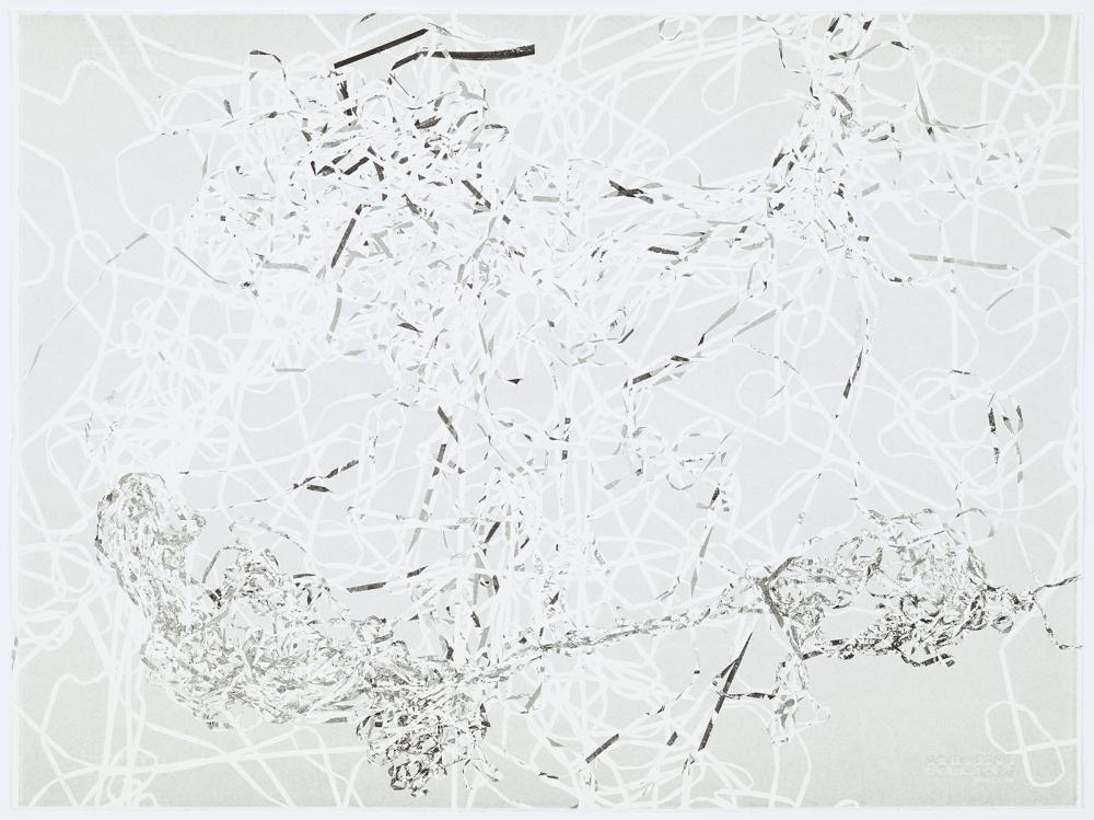 Christian Marclay unique monoprint GS 1554-13