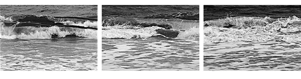 "Burt Barr ""Wave"" panels 1-3"